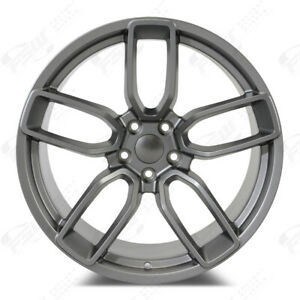 Fits Dodge Charger Challenger 20 Wide Body Style Wheels Gunmetal Lightweight