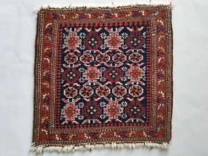 Antique Caucasian Saddle Bag Panel Khorjin Kuba Chi Chi Sumak Rug 20 X20 Rare