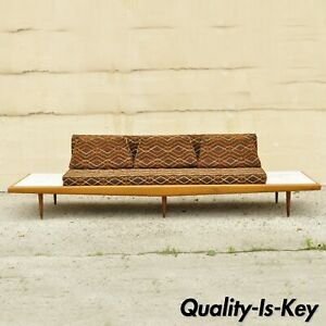 Mid Century Modern Long Gondola Daybed Sofa W Marble Attr To Adrian Pearsall