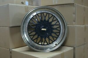 18 Inch Black With Nickel Brass Lip Rims Fits Et20 Ford Focus 2000 2011