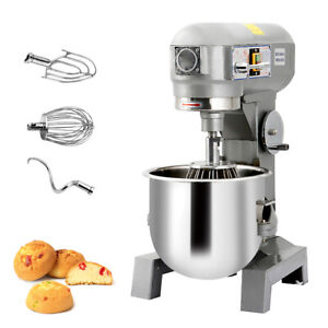 Commercial Dough Food Mixer Gear Driven Bakery Blender Three Speed 15qt 580w New
