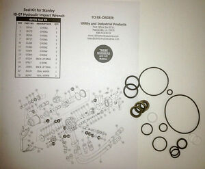 Seal Kit Stanley Id 07 Hydraulic Impact Wrench Seal Kit No 60791