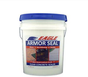 Eagle Concrete Sealer 5 Gal Urethane Acrylic Glossy Durable Water based Clear