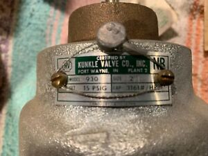 Kunkle 930 Relief Valve 15 Psig Steam 2 3161 Capacity