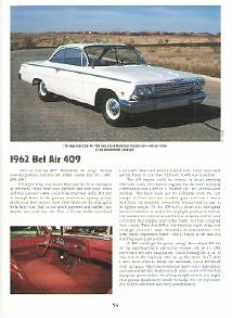 1962 Chevy Bel Air 409 Article Must See