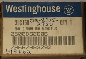 Cutler Hammer Westinghouse 3lc150 Lc Hlc 300 Amp 150amp Rating Plug 2608d88g06