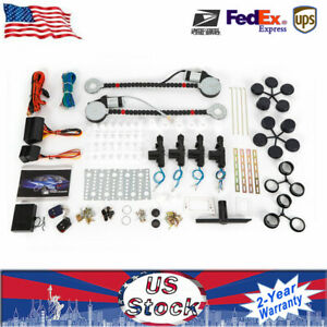 New 12v Electric 2 Power Motor Window Lifter 4 Door Lock Conversion Kit Car Tool
