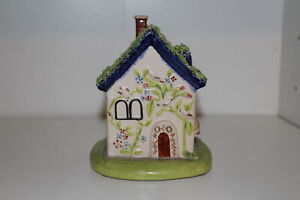 Antique Staffordshire England Pottery 5 5 House Figurine Or Bank