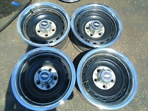 Chevy Silverado 15 Truck Van Rally Steel Wheel Rims Set Of 4 Oem