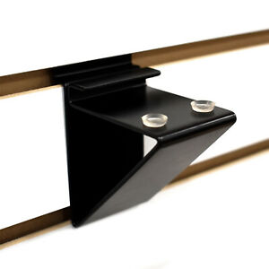 Slatwall Glass Shelf Bracket Low Profile Support For Glass Shelving Up To 12 D
