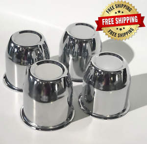 3 18 Stainless Steel Push Through Center Caps 5 Lug Set Of 4 Closed