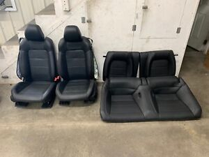 2015 2017 Ford Mustang Gt Black Leather Front Rear Seats Oem