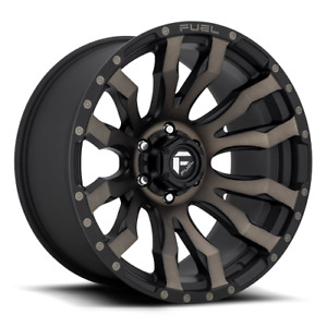 22x12 Fuel D674 Blitz Matte Black Machined Wheels 5x150 44mm Set Of 4