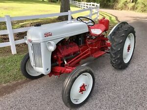 Ford 8n Tractor With Mercury Flathead V8 Engine Conversion Rare Funk Flatty