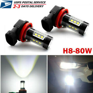 80w H9 H11 Led Fog Lights Conversion Bulbs Car Driving Lamp Drl 6000k Hid White