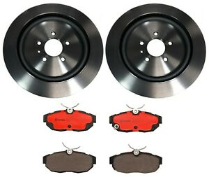 Brembo Rear Brake Kit Coated Disc Rotors Ceramic Pads For Mustang Shelby Gt500