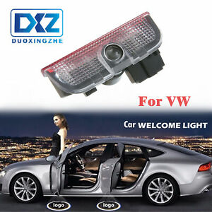 2x Welcome Courtesy Door Light Led Projector Lamp Ghost Shadow Car Logo Magotan