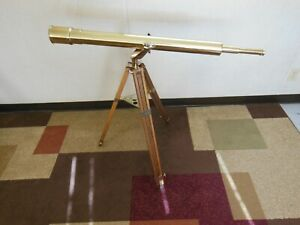 Vintage Brass Bushnell Harbor Master Telescope Harbormaster With Tripod