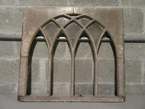 Antique Window Sash With Gothic Arches 30 X 27 Architectural Salvage