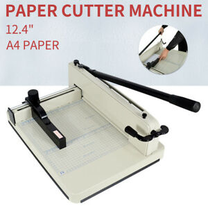 Heavy Duty Guillotine Paper Cutter 12 4 Commercial Trimmer Metal Base A4 Paper