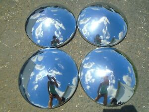 Vintage Trailer camper Dog Dish Hubcaps Set Of 4