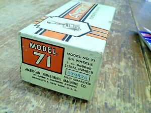 American Mod 71 Numbering Machine never Been Inked