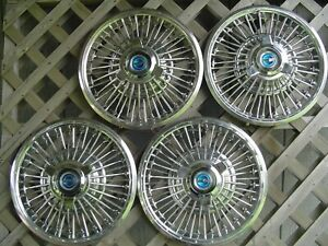 One Vintage 1965 1966 1967 Ford Mustang Fairlane Spinner Hubcap Wheel Cover