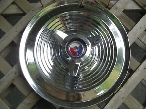One 1963 1964 Ford Galaxie 500 Xl 427 15 In Spinner Hubcap Wheel Cover Vintage
