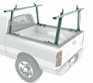 Aluminum 800lb Pickup Truck Ladder Rack Cargo Adjustable Contractor Utility