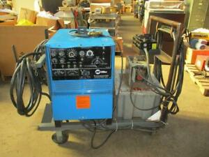 Miller Synrcowave 250 Power Source With Tig Running Gear 1 Phase On Cart Used