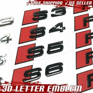 3d Letter Emblem S3 S4 S5 S6 Audi Sticker Logo Trunk Badge Decal Metal Chrome