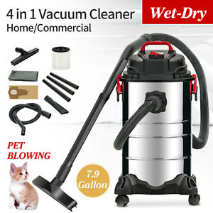 Portable 8 Gallon 4 in 1 Wet Dry Vacuum Cleaner Vac Shop 3 5 Hp Stainless Steel