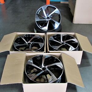 Fits A4 A5 A6 S4 19 In Audi Rs Style Wheels Rims Black Machined