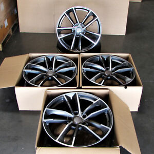 Fits Porsche Cayenne S Turbo Gts Vw Touareg Audi Q7 21 Machined Gunmetal Wheels