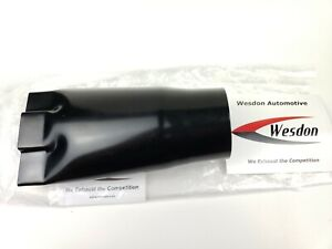 Wesdon Exhaust Tip 4 75 Outlet 9 00 Long 3 Inlet Chevy Black Bowtie Stainless