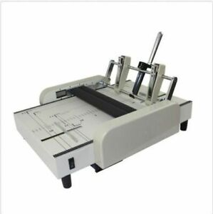 A3 Booklet Making Machine Paper Bookbinding And Folding Booklet Stapling 220v O