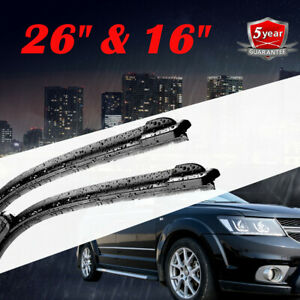 26 16 Windshield Wiper Blades Premium Hybrid Silicone J Hook Oem High Quality