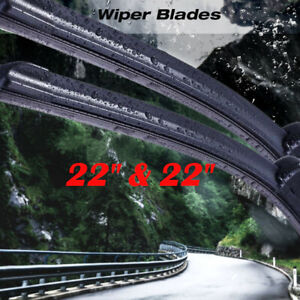 22 22 Windshield Wiper Blades Premium Hybrid Silicone J hook Oem High Quality