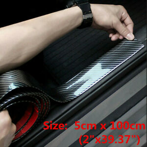 Car Stickers Carbon Fiber Vinyl Door Sill Protector Sedan Auto Parts Accessories