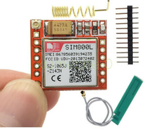 Smallest Gprs Gsm Sim800l Module With Antenna Ttl Card Board Quad band Onboard