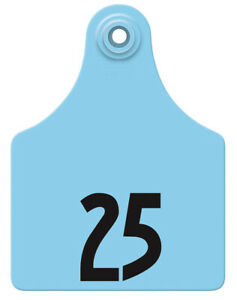 Allflex Global Maxi Numbered Cattle Ear Tags Blue 1 25