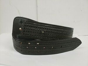Don Hume Leathergoods B101 a Sam Browne Belt Black Basketweave Sz 28