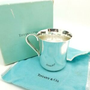 Tiffany Co Maker Sterling Silver Classic 2 5 In Child Baby Cup W Pouch Box