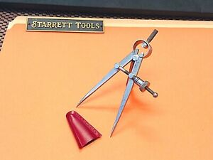Starrett No 83a Dividers With Flat Legs 3 0 Capacity Made In The Usa