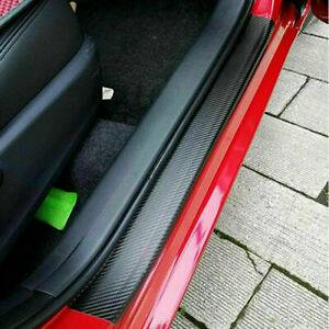 Auto Accessories 5d Glossy Carbon Fiber Vinyl Car Scuff Plate Door Sill Stickers Fits 2014 Camry Se