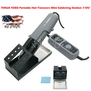 Yihua 938d Portable Hot Tweezers Mini Soldering Station 110v For Bga Smd Us Xs90