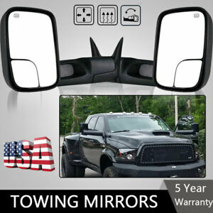 Latest Style Tow Mirrors Fits 98 01 Dodge Ram 1500 98 02 2500 3500 Power Heated