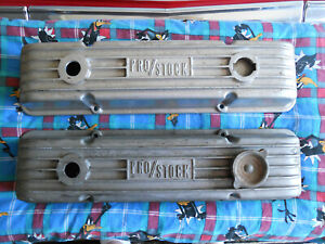Rare Vintage Weiand Pro Stock Small Block Chevy Valve Covers Sbc