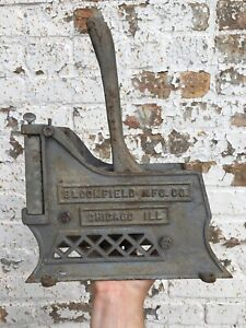 Vintage Cast Iron Potato French Fry Cutter Bloomfield Mfg Chicago Local Pickup