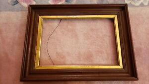 Antique Victorian Wood Eastlake Gold Deep Picture Frame 13 3 8 X 8 3 4 In